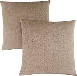 Monarch Specialties Mosaic Velvet 18 x 18 Taupe 2 Piece Pillow