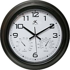 Infinity Instruments Seer 18 in. Outdoor Wall Clock - 14109BK-3177