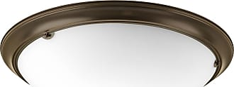 PROGRESS Eclipse Antique Bronze 4-Lt. close-to-ceiling with Satin white glass bowl
