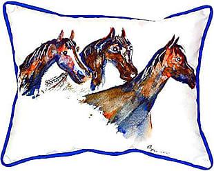 Betsy Drake SN419 Three Horses Pillow 11 x14