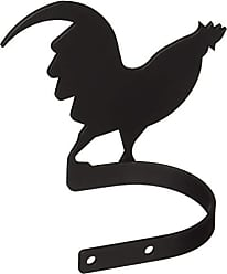 Village Wrought Iron 5 Inch Rooster Curtain Tie Backs