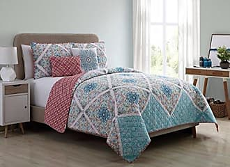 VCNY Home VCNY Home Windsor 5 Piece Reversible Quilt Cover Set, Queen, Multicolor, Multi