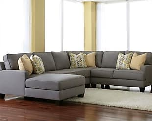 Ashley Furniture Chamberly 4-Piece Sectional with Chaise, Alloy