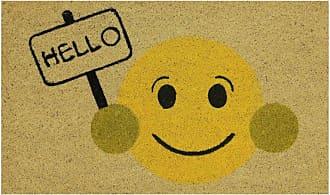 Dynamic Rugs Aspen Hello Emoji Door Mat - AS232968707