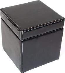 4D Concepts Ottoman with Lift Top - Black - 554664