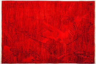 Solo Rugs M1822-78 Vibrancy Area Rug Hand Knotted Area Rug, 4 1 X 5 10, Red