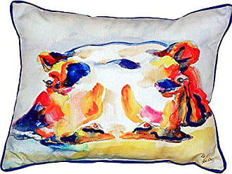 Betsy Drake SN157 Hippo Small Indoor/Outdoor Pillow, 11 x14