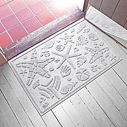 Bungalow Flooring AquaShield Beachcomber Doormat, 2 x 3, White