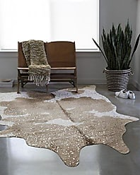 Loloi Rugs Loloi Faux Cowhide Rug Bryce Collection, 310 x 5, Taupe/Champagne