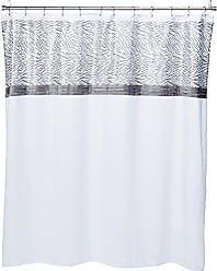 Lush Décor Triangle Home Fashions 16944 Serengeti Shower Curtain, White