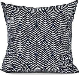 E by Design E by design Life Flor Decorative Geometric Throw Outdoor Pillow 16 Navy Blue