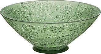 Lalique Ombelles Bowl Green Crystal