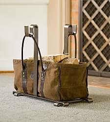 Plow & Hearth Heavy Duty Canvas Log Carrier And Steel Stand Set