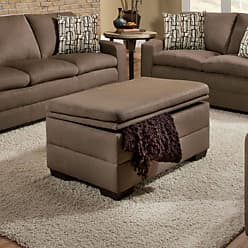 United Furniture Simmons Velocity Upholstered Storage Ottoman - Shitake - 6515-095