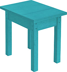 C.R. Plastic Products T01 Turquoise Small Rectangular Table