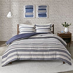 Urban Habitat LAF02-0241 Cole Stripe Print Ultra Soft Cotton Blend Jersey Knit Comforter Set Navy Full/Queen