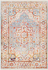 Surya Sherwood Blue and Beige Updated Traditional Area Rug 5 x 79