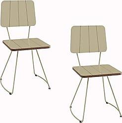 Daf Mobiliário Kit 2 Cadeira Costela Meia Lua fendi - Daf Mobiliário