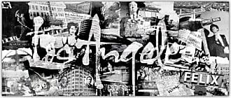 Ready2HangArt Vintage Los Angeles Canvas Wall Art, 20 High x 40 Wide x 1 to 2 Deep, Black/White/Gray