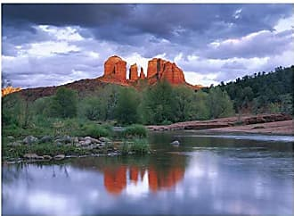 Bentley Global Arts Global Gallery Art on a Budget DP-397218-2432 Tim Fitzharris Cathedral Reflected in Oak Creek Crossing Red Rock State Park Near Sedona Giclee on Paper Print