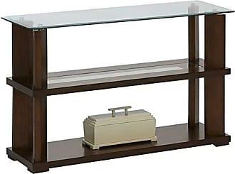 Progressive Furniture P404-05 Delfino Console Table, Burnished Cherry