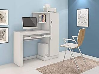 JCM Movelaria Mesa Escrivaninha Para Computador Aroeira Branca JCM Movelaria