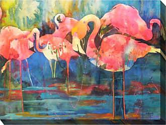 West of the Wind Flirty Flamingos Wall Art - 40W x 30H in. - OU-85008