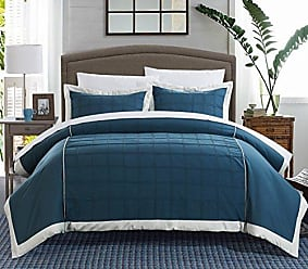 Chic Home 3-Piece Angelina Pintucked Contemporary Duvet Set, Queen, Teal