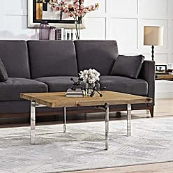 ModWay Modway Diverge Rustic Modern Square Coffee Table with Pine Wood Top
