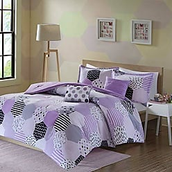Urban Habitat Trixie Full/Queen Comforter Sets for Girls - Purple, Geometric - 5 Pieces Kids Girl Bedding Set - Cotton Childrens Bedroom Bed Comforters
