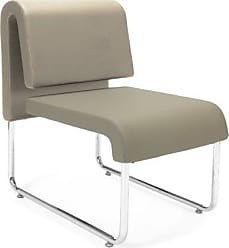 OFM 420-2PK-PU607 UNO Series Lounge Reception Chair, 31 Height, 28 Width, 20 Length, Taupe (Pack of 2)