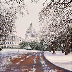 Louis Leonard Art After the Snow by Meredith Hannon Canvas Wall Art - MEH001-1818