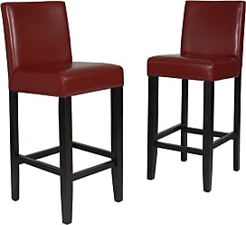 Round Hill Furniture Citylight Bar Stools - Set of 2 Brown - PC503BR