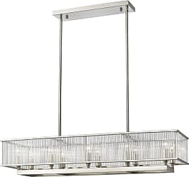 Z-Lite 1000-42 Zalo 10 Light Pendant with Clear Rectangle Glass Shade