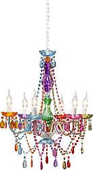 Kare Design Hängeleuchte Starlight Rainbow 6 Arm, Moderner, Bunter  Kronleuchter, Kleine Pendelleuchte