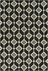 Kaleen Rugs Spaces Collection SPA05-02 Black Hand Tufted Rug, 3 x 5