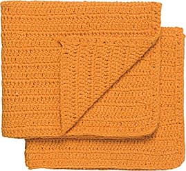 Now Designs Homespun Dishcloths, Kumquat Orange, Set of 2