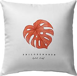 Kavka Designs Orange Tropical Leaf Outdoor Pillow - OPI-OP16-16X16-TEL8477
