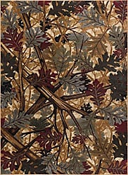 Tayse Oak Canopy Novelty Lodge Pattern Beige Rectangle Area Rug, 5 x 7
