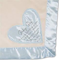 Pavilion Gift Company Pavilion - Baby Boy - Blue Silk Edge Royal Plush Babys First Blanket 30 x 40 Inch