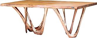 Zieta G-table Cu+k In Copper-cladded Steel With Kauri Wood Top By Zieta