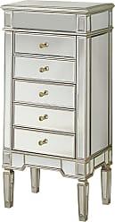 Elegant Lighting 5 Drawers Jewelry Armoire 24 x 17 x 52 SC