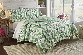 Ellery Homestyles Vue 2 Piece Otto Collection Reversible Quilt Set, Twin XL, White