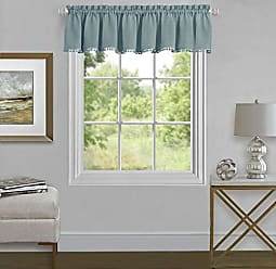 Ben&Jonah Ben & Jonah PrimeHome Collection Wallace Window Curtain Valance 52x14-Aqua, Aqua