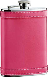 Visol Products VisolAlexis Leather Stainless Steel Hip Flask, 8-Ounce, Hot Pink