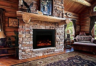 Y Decor FP920 36 Electric Fireplace Insert, Large, Black