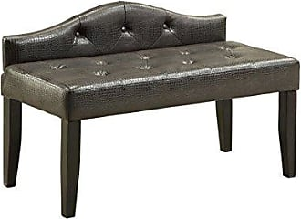 FURNITURE OF AMERICA Leatherette Nadia Modern Bench, 42, Brown