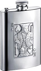 Visol Products VisolKing of Spades Stainless Steel Hip Flask, 6-Ounce, Chrome