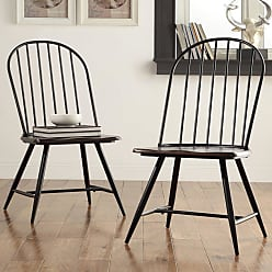 Weston Home Jameson Two-Tone Windsor Dining Side Chairs - Set of 4 - 685118S-W[4PC]