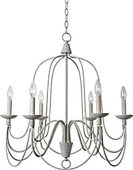 Kenroy Home Pannier 6 Light Chandelier, White